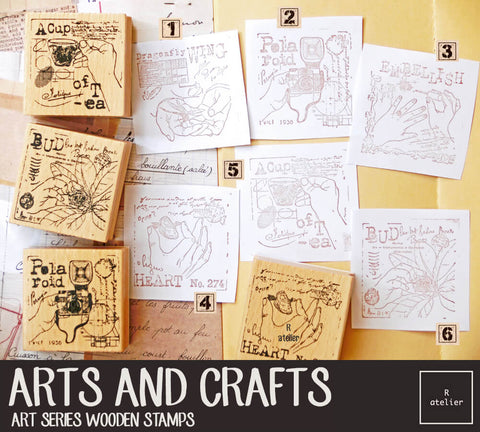 Arts and Crafts Wooden Stamps Series (2)