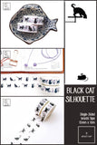 Black Cat Silhouette Washi Tapes | 15mm x 10m