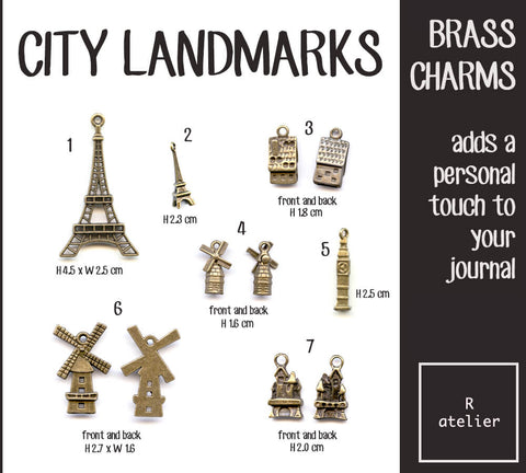 Buildings Journal Brass Charms