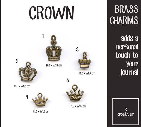 Crown Journal Brass Charms
