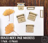 Brass Index Page Markers