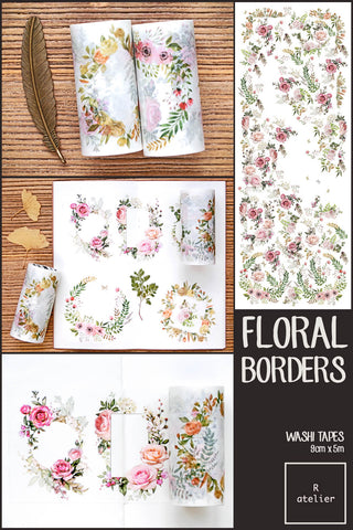 Floral Borders Washi Tapes | 9cm x 5m