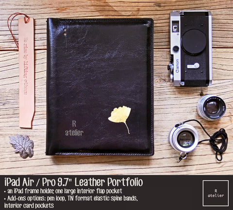 iPad Air / Pro B5 Size Leather Portfolio Cover