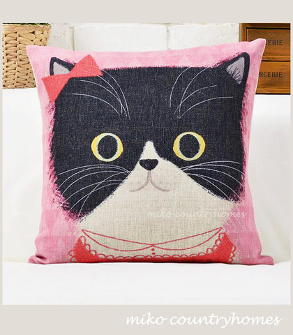 Kitty Cat | Throw Pillow Cushion Cover