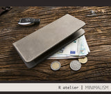 Handmade Leather Bifold Clutch Wallet