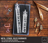 3-in-1 Metal Stencil Ruler Bookmark Combo Value Pack