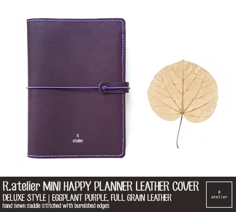 R.atelier Mini Happy Planner Leather Cover