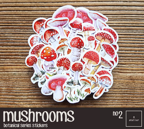 Mushrooms (2) | Die Cut Stickers