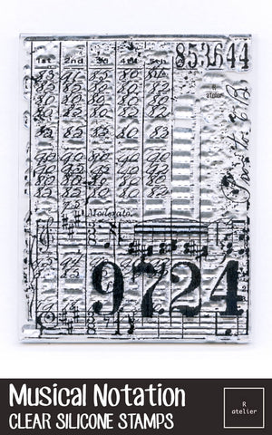 Musical Notation Clear Silicone Stamps