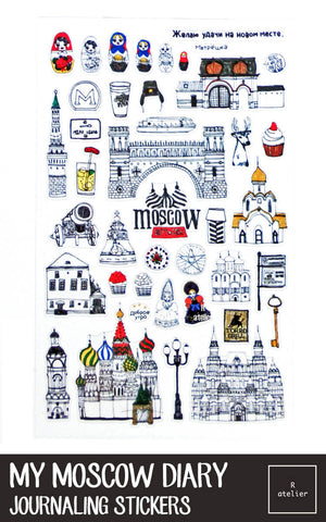 My Moscow Diary Stickers
