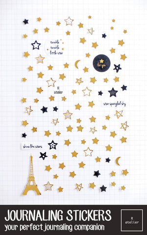 Journaling Stickers | Twinkle Stars