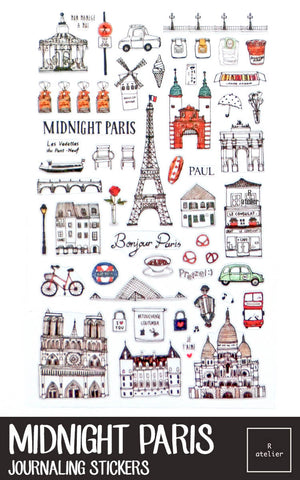 Midnight Paris Stickers