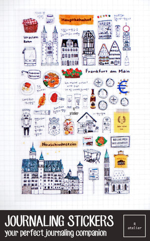 Journaling Stickers | My Frankfurt Diary