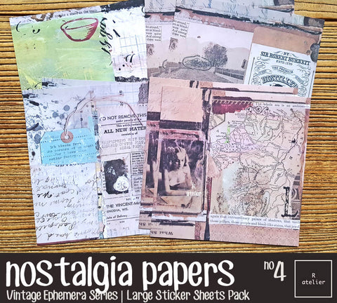 Nostalgia Papers (4) | Large Sticker Pack