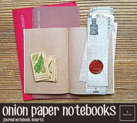 Onion Paper Notebook Inserts
