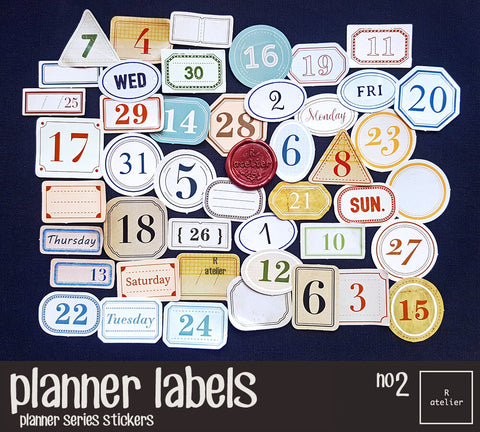 Planner Labels (2) | Die Cut Stickers