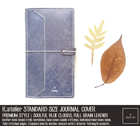 R.atelier Standard TN Leather Journal Cover | Premium Style | Soulful Blue Clouds