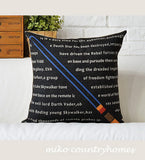 Star Wars | Light Saber | Throw Pillow Cover