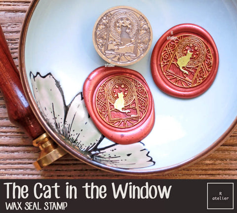 The Cat in the Window Wax Seal Stamp