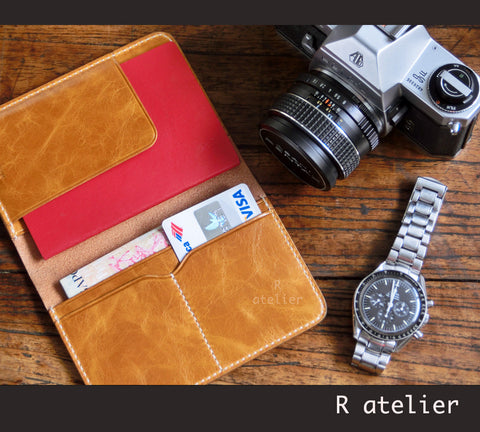 Handmade Leather Passport Wallet | Passport Cover | Travel Organizer Wallet