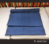 Vintage Chinese Fabric | Handwoven Cotton | Fabric By The Yard | Blue Stripe #013