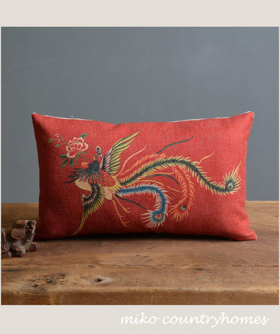 Chinoiserie Chinese Dragon #2 Pillow Cover