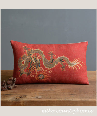 Chinoiserie Chinese Dragon #1 Pillow Cover