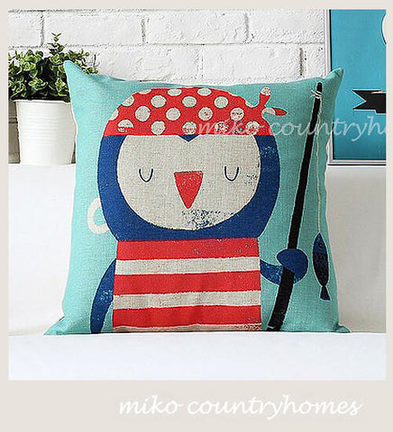Whimsical Sailor | Nautical Inspired Throw Pillow Cover