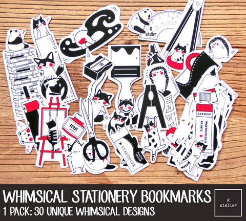 Whimsical Stationery Bookmarks