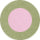 HORSESHOES POUF - MOSS GREEN / PINK SUCRE