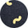 WORM CYLINDER CUSHION - BLACK