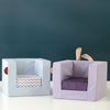 CUBE CHAIR <br> BLUE SUCRE / ZIKKZAKK IRIS