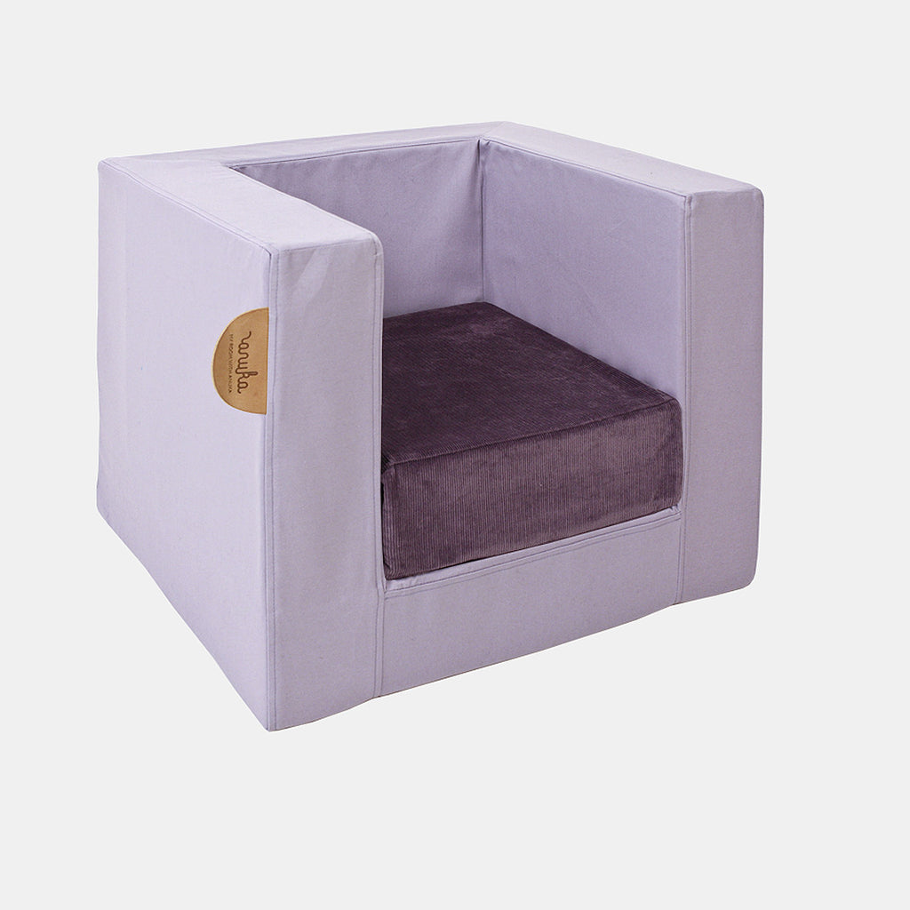 CUBE CHAIR <br> IRIS / AUBERGINE