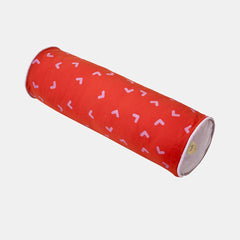 HOOF CYLINDER CUSHION <br> MANDARIN RED