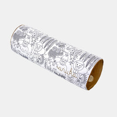 JUNGLE CYLINDER CUSHION <br> WHITE