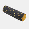 WIGGLY WORM CYLINDER CUSHION <br> BLACK