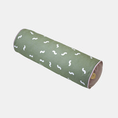 WIGGLY WORM CYLINDER CUSHION <br> MOSS GREEN