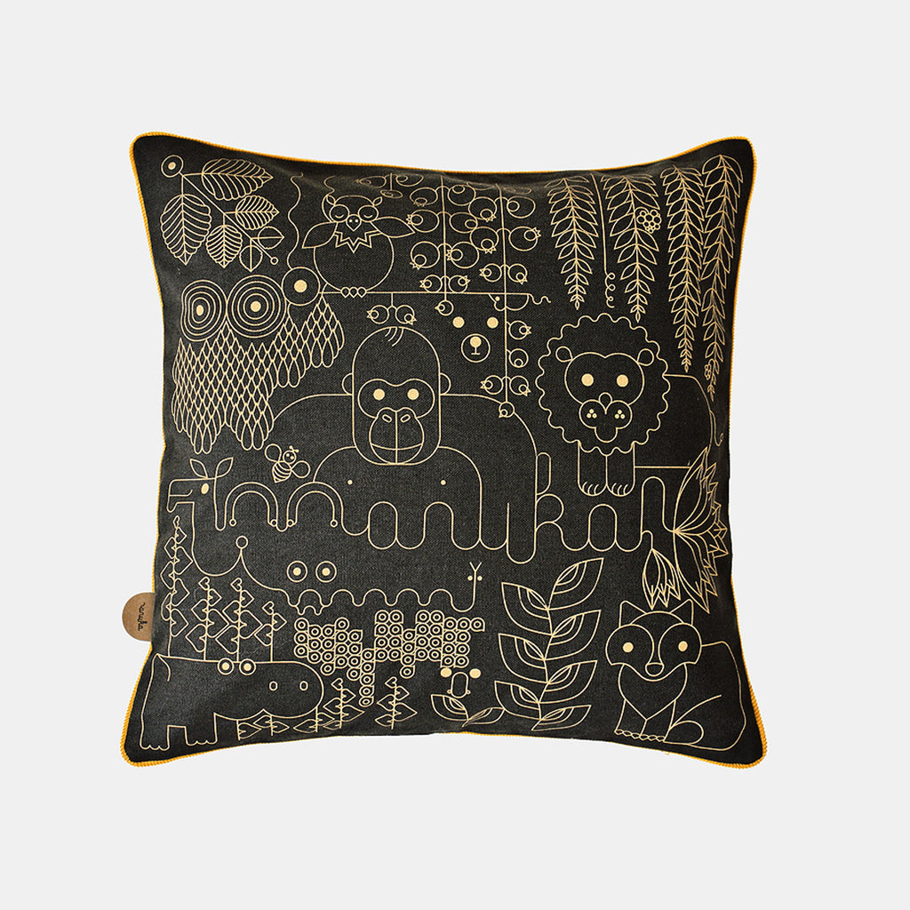 JUNGLE CUSHION <br> BLACK