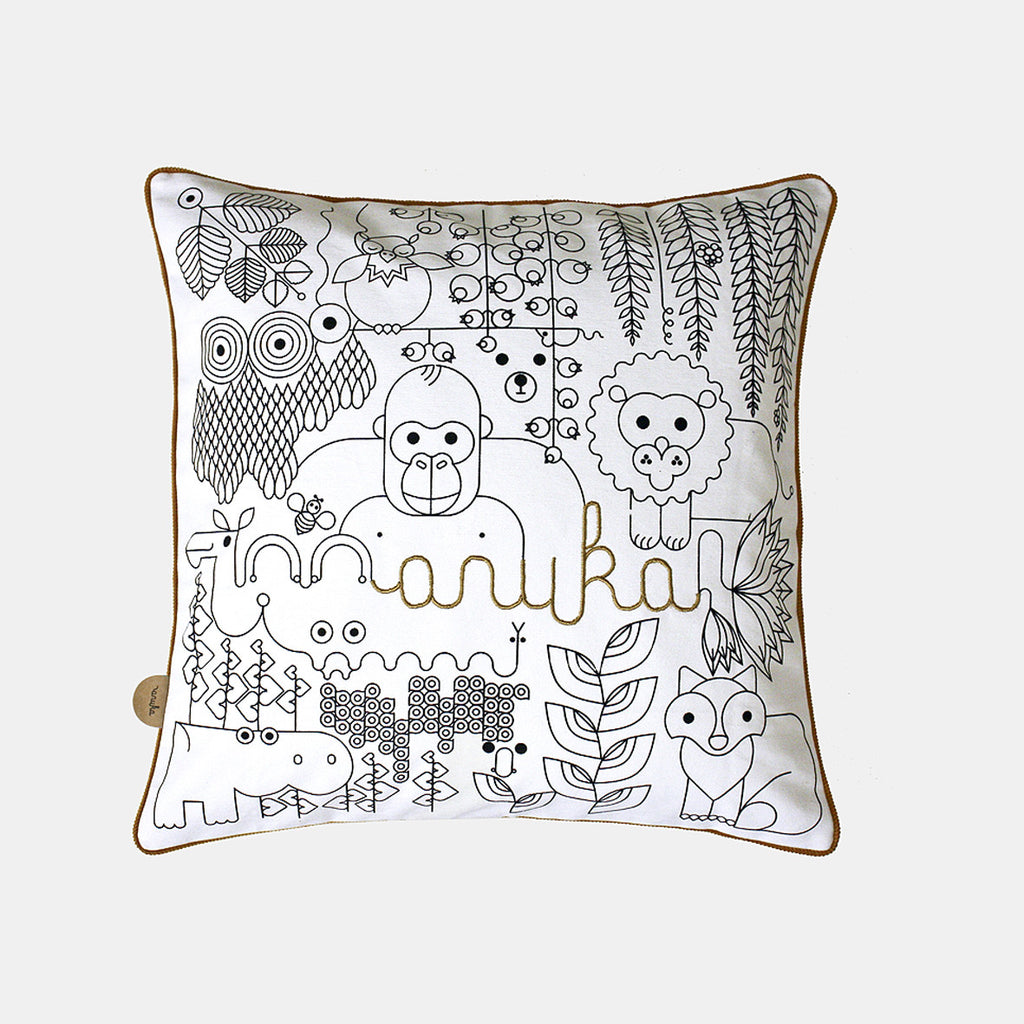 JUNGLE CUSHION <br> WHITE