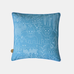 JUNGLE CUSHION <br> PAGODA BLUE