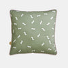 WIGGLY WORM CUSHION <br> MOSS GREEN