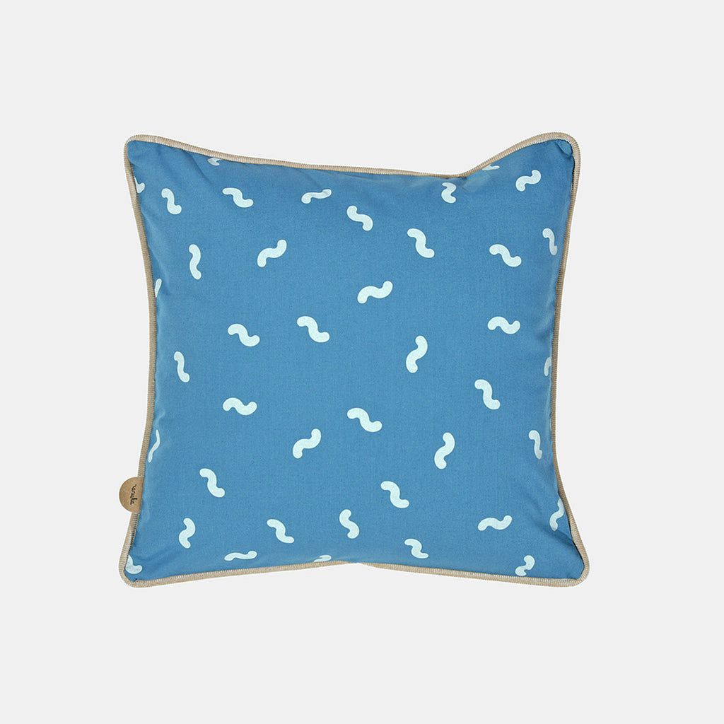WIGGLY WORM CUSHION <br> PAGODA BLUE