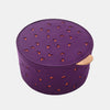 HOOF POUF <br> PURPLE / MANDARIN RED