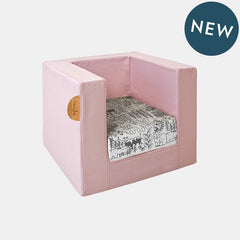 CUBE CHAIR <br> PINK SUCRE / WHITE JUNGLE