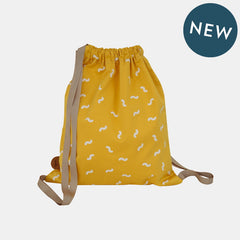 WIGGLY WORM BACKPACK <br> SUN YELLOW