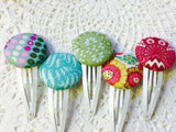 Button Clips ~ Custom Order ~  Your choice of Fabric