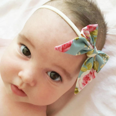 Petite Ponytail Bows ~ Custom Order ~  Your choice of Fabric