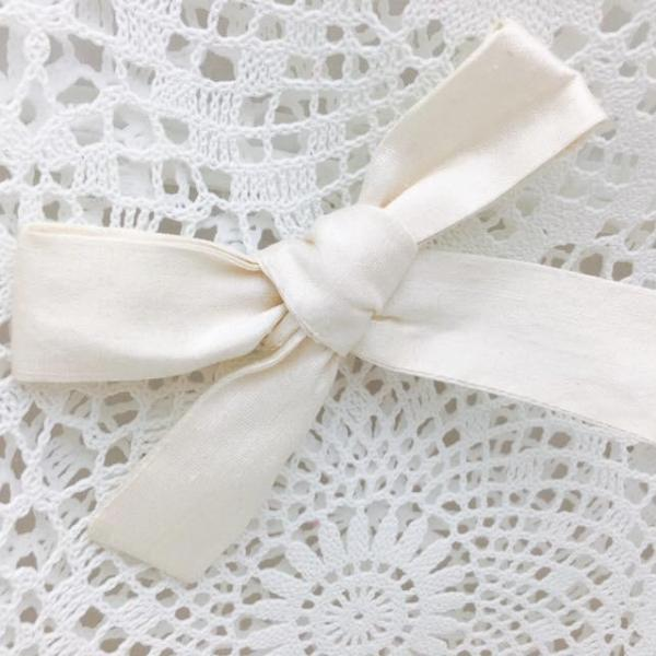 Knot Bow Classic ~ Pure Silk ~ Ivory or Ruby Red