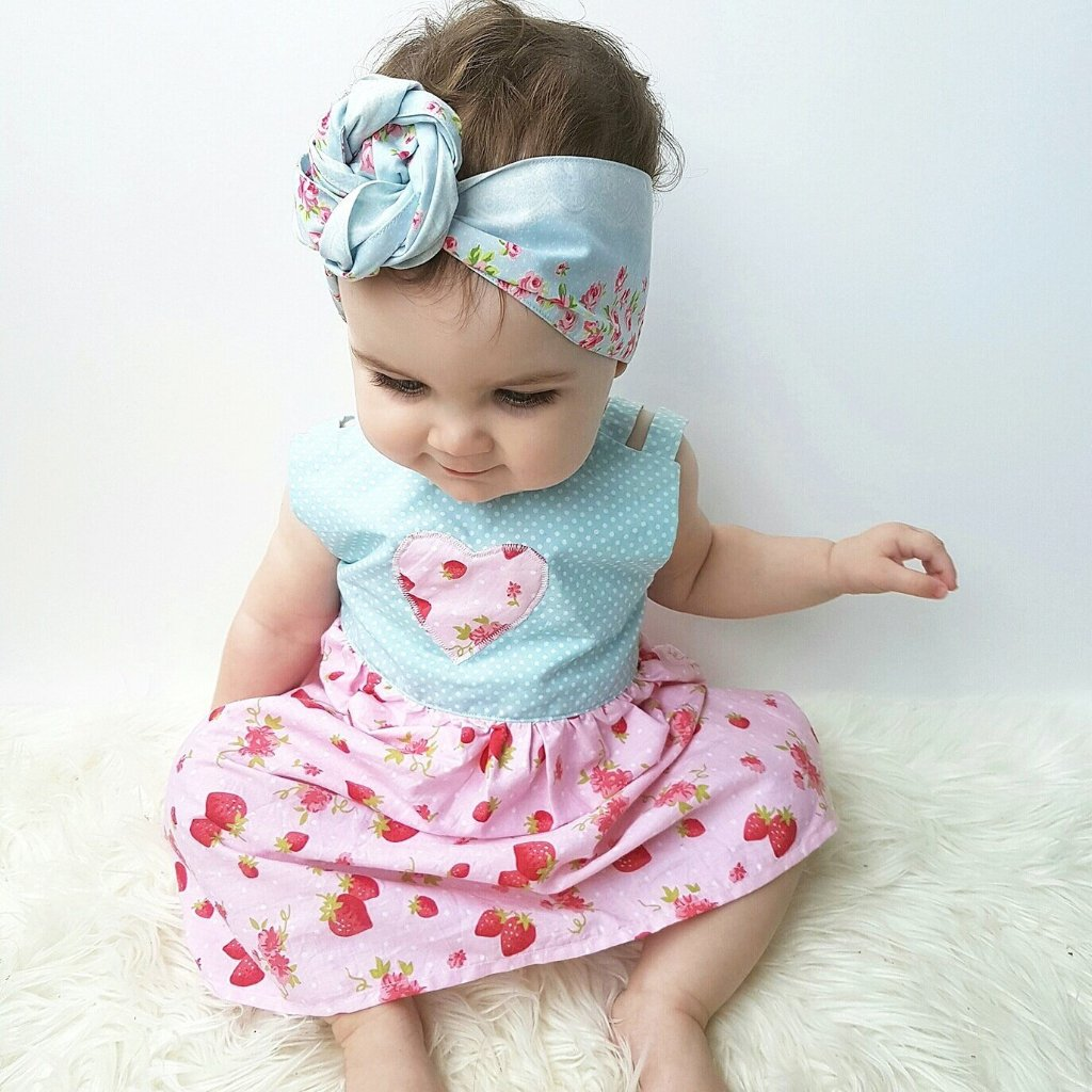 Headwraps ~ Baby Blue Roses