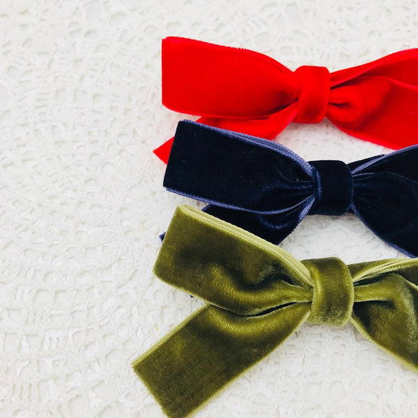 Velvet Bow Large ~ Custom Order ~ Your Fabric Choice